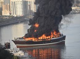 Video: 13 people rescued from burning cargo ship in Sharjah | Uae ...