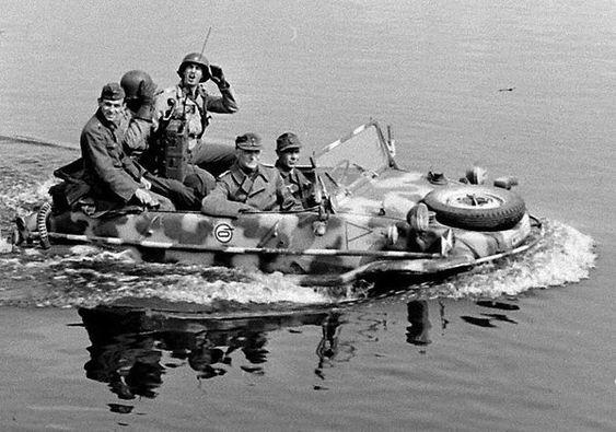Americans enjoying a captured Volkswagen Typ 166 Schwimmwagen on the Elbe River.jpg