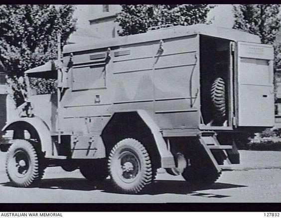 AUSTRALIA. TRUCKS, 15-CWT. WIRELESS SIGNALS (AUSTRALIAN). THREE-QUARTER REAR VIEW, LEFT SIDE..jpg