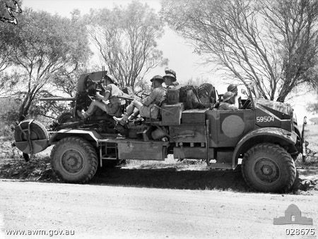 Australian truck-mounted Ordnance QF 2 pounder gun on exercise in Geraldton, Australia, Oct 19...jpg