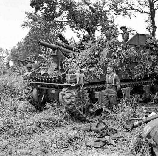 Battery of self-propelled artillery pieces M7 Priest of the 33rd Royal Field Artillery Regimen...jpg