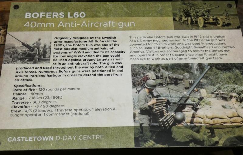 Castletown D-Day Centre-40mm Bofors Light Anti-Aircraft Gun L60 (16).jpg