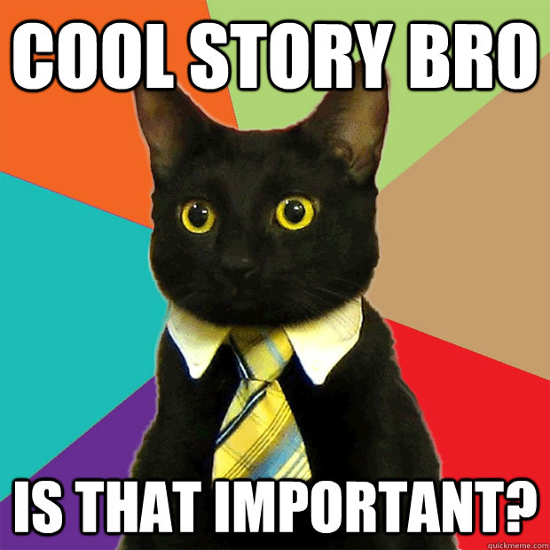 Cat with natty collar and tie -Cool Story meme.jpg