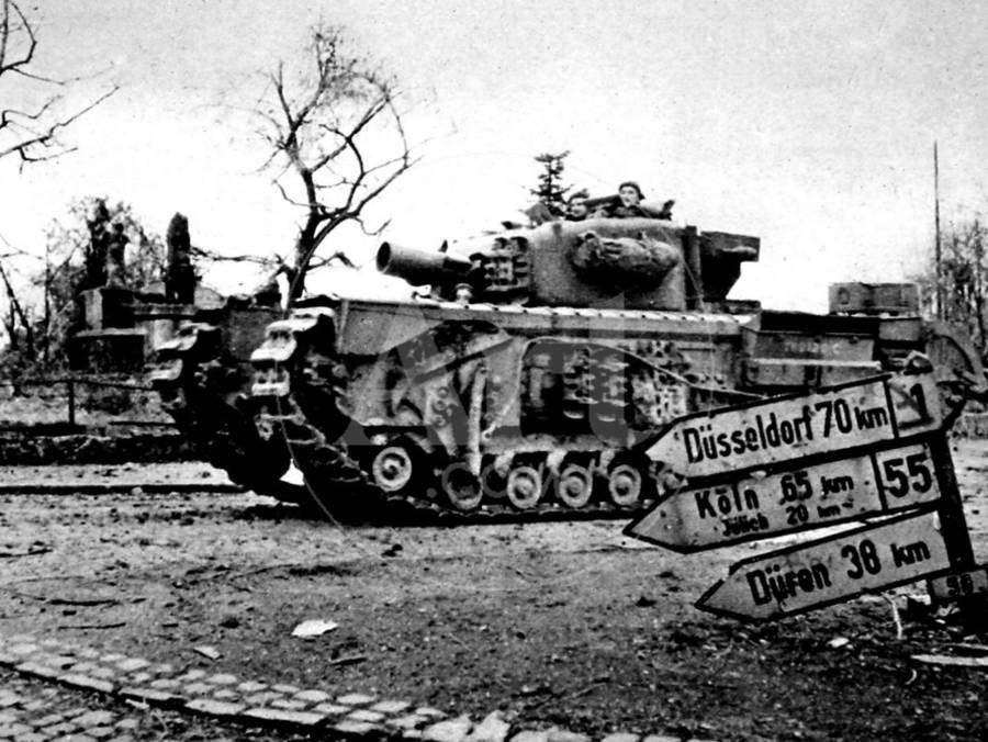 Churchill Avre Tank Entering Geilenkirchen.jpg