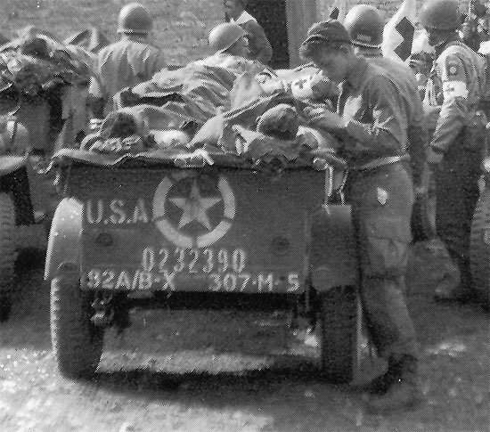 Close-up illustration showing organization markings on the rear of a ¼-ton Trailer belonging ...jpg