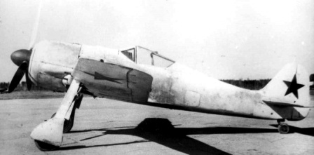 Focke Wulf 190A-4, (Wk. Nr. 142310), repainted in Soviet Air Force markings as it appeared whi...png