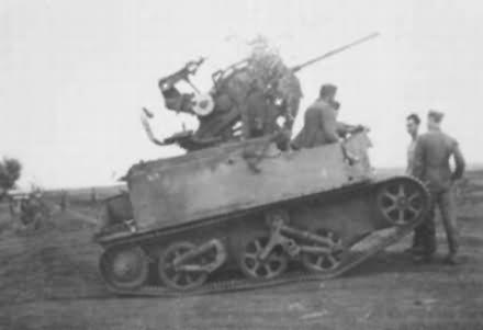 Germans mount 20mm flak gun on British Bren gun carrier.jpg