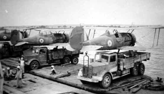 Gloster Gladiators of 112 Sqn deployed in Greece, spring 1941. Pat Pattle, with an estimated 4...jpg