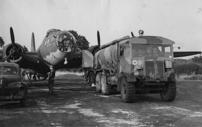 Ground personnel of the 97th Bomb Group refuel a B-17 Flying Fortress (serial number 41-9023) ...jpg