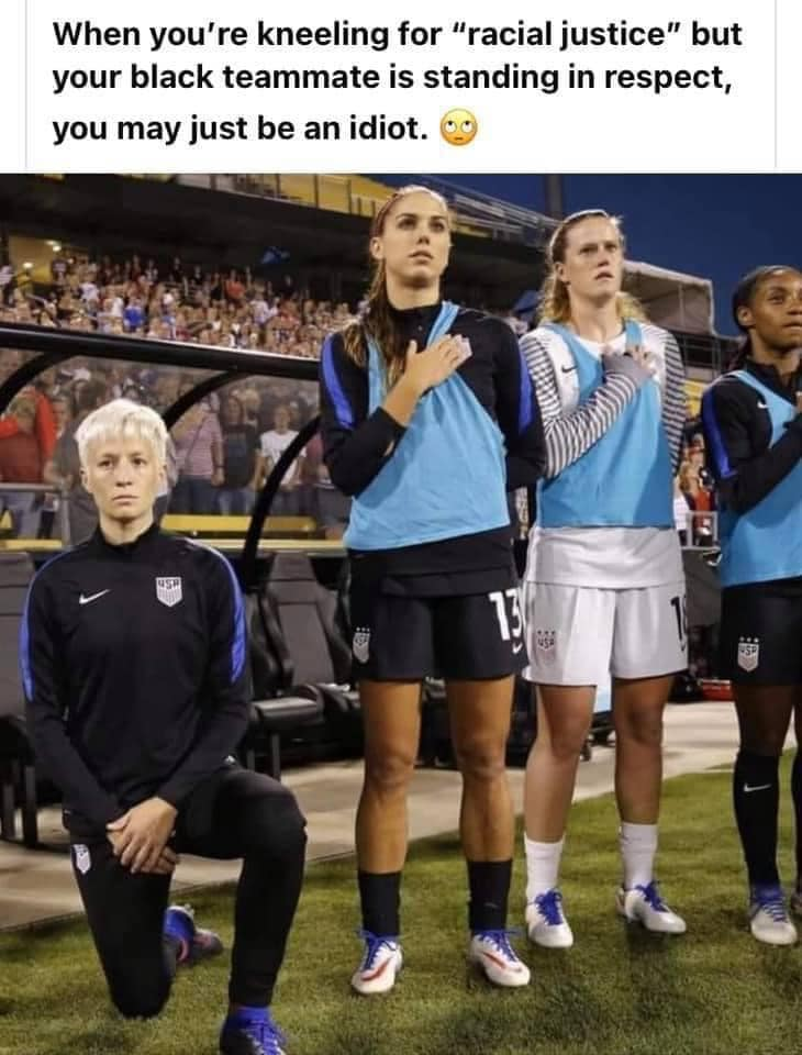 Idiot Kneels (and get her ass handed  to her as Japan beat her team 3 to 0.jpg