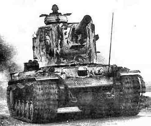 KV-2, Kenn-Nr. 754(r), with German command cupola. Originally designed for Operation Herkules ...jpg