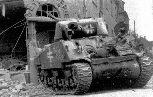 M4A3 (76) Sherman medium tank, captured and pressed into service by the German army.jpg