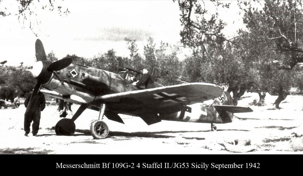 Messerschmitt Bf 109G2Trop 4.JG53 Sicily September 1942.jpg