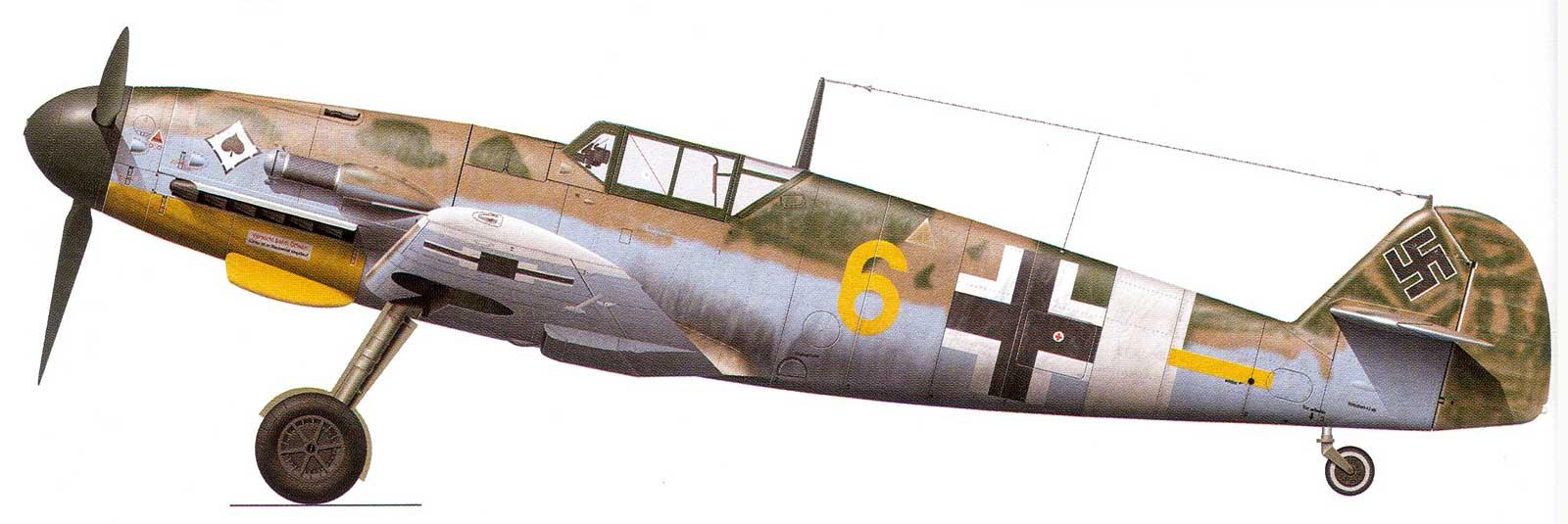 Messerschmitt Bf 109G2Trop 6.JG53 (Y6+-) Sicily 1943.jpg