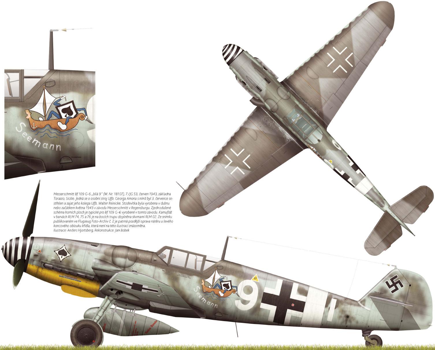 Messerschmitt Bf 109G6R3 7.JG53 (W9+I) Georg Amon WNr 18107 Sicily Jun 1943.jpg