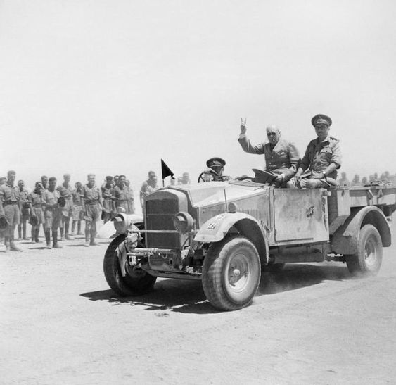 Morris-Commercial 8cwt truck - Winston Churchill giving his famous V-for-Victory sign while be...jpg