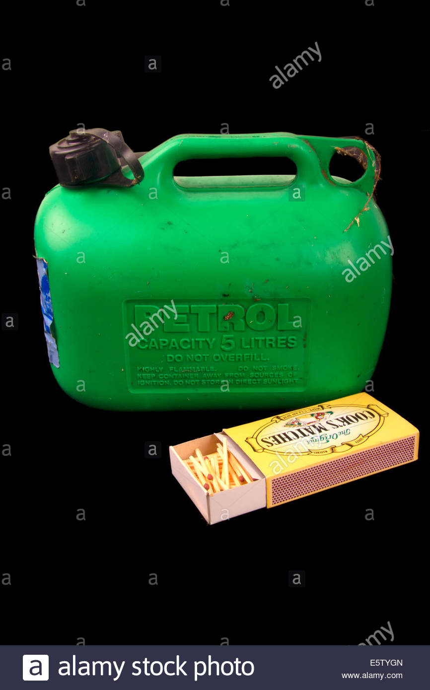 plastic-fuel-or-petrol-can-with-a-box-of-matches-E5TYGN.jpg