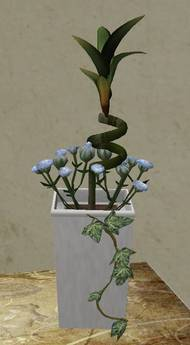 Potted Plant with sculpted Bamboo + Baby Roses 02.jpg