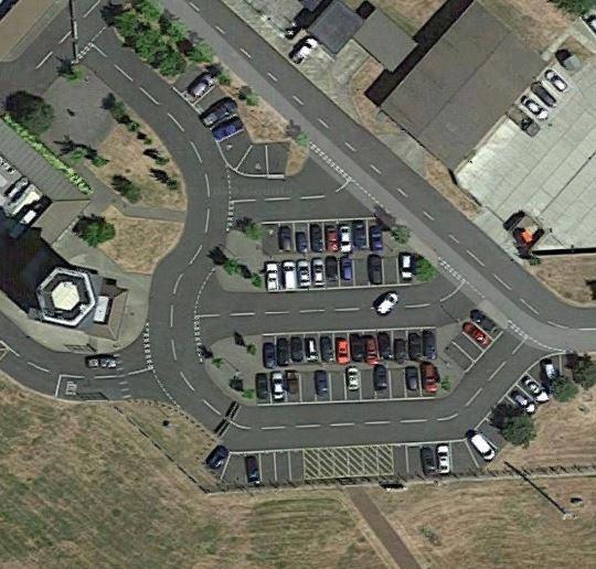 RAF Mildenhall road junctions on base.JPG