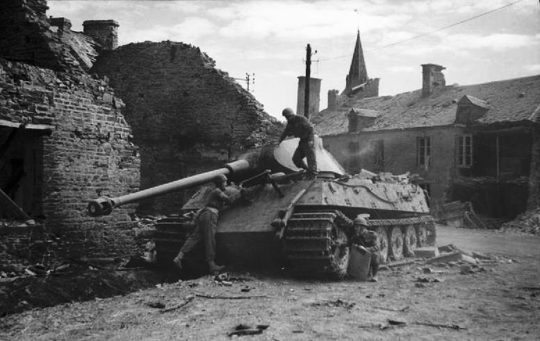 The_British_Army_in_the_Normandy_Campaign_TigerII_destroyed_Le_Plessis_Grimoult_10aug_1944.jpg