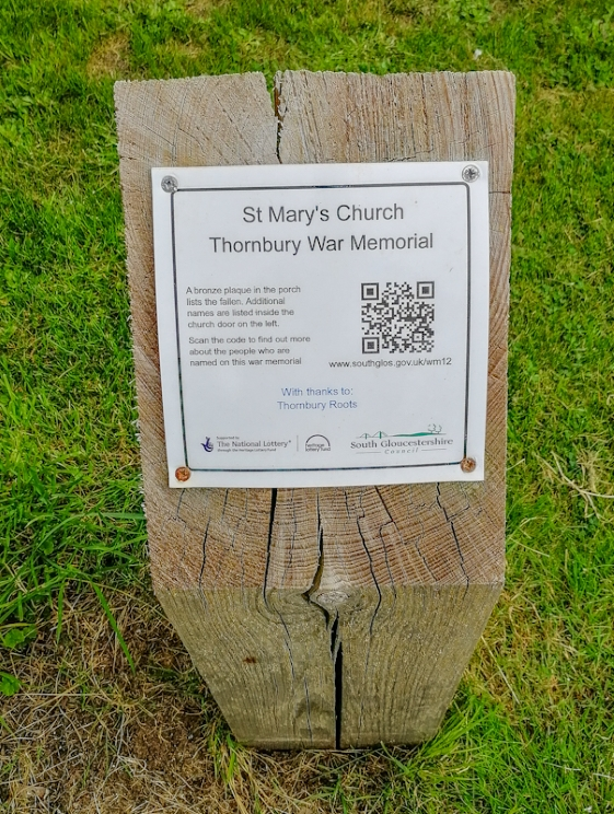Thornbury – St Mary's Church, War memorial (4) (Custom).jpg