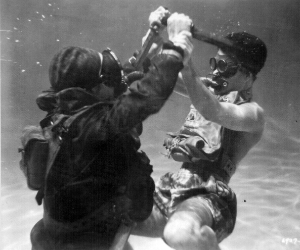 Underwater knife fight from The Silent Enemy.jpg