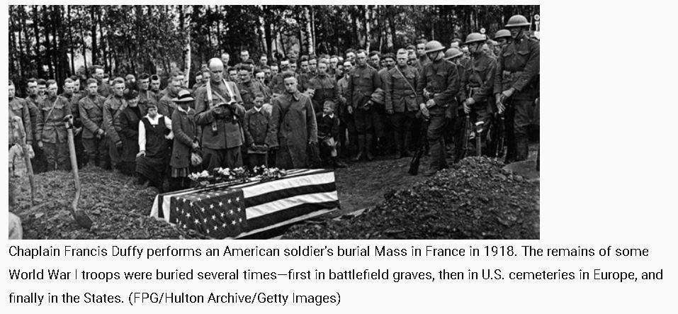 WW I Battlefield Burial in France.JPG